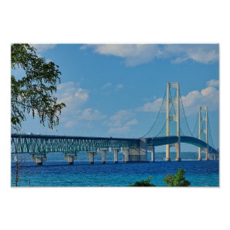 Poster Mackinac Bridge