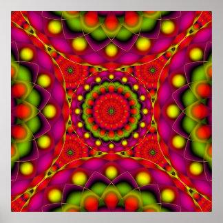 Poster Mandala Psychedelic Visions