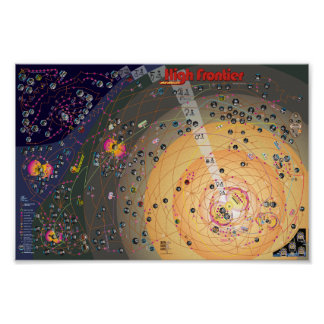 Poster-Map, 2nd Edition High Frontier Colonization Poster
