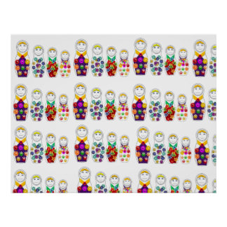 poster matryoshka russian nesting doll love