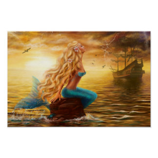 Poster Mermaid Fantasy