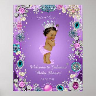 Poster Mermaid purple, jewelry,16x20