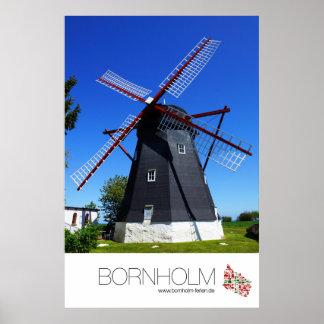 """Poster """"mill"""" 60 x 90 cm portrait format"""