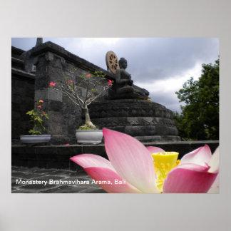 Poster Monastery Brahmavihara Arama, Bali