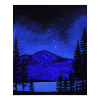 Poster ~ Mount Shasta In Starlight
