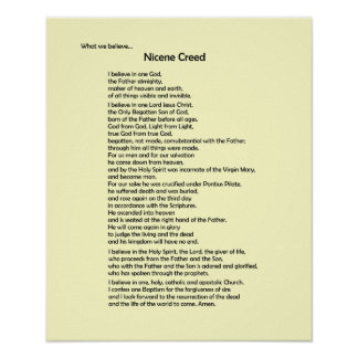 Poster-Nicene Creed~ Customisable! Poster