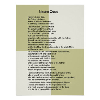 Poster-Nicene Creed~ Customizable! Poster