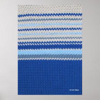 Poster - Ocean Horizon in Crochet
