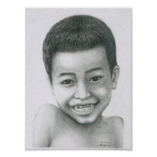 Poster of a Cambodian Boy 1 by Vannak Anan Prum