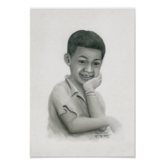 Poster of a Cambodian Boy 2 by Vannak Anan Prum