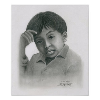 Poster of a Cambodian Boy 3 by Vannak Anan Prum