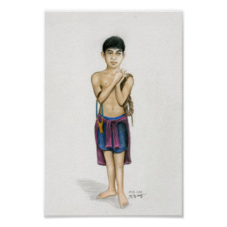 Poster of a Cambodian Boy by Vannak Anan Prum