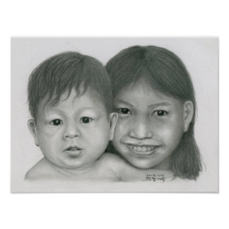 Poster of a Cambodian Boy & Girl, Vannak Anan Prum