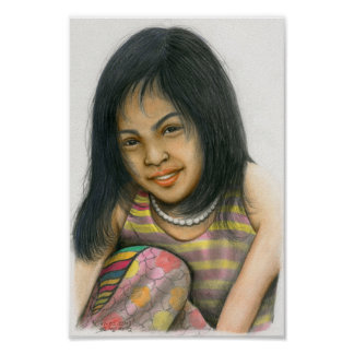 Poster of a Cambodian Girl by Vannak Anan Prum