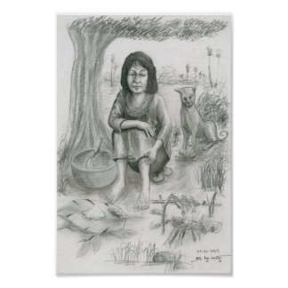 Poster of a Cambodian Woman by Vannak Anan Prum