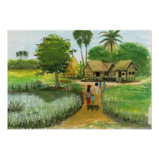 Poster of Cambodian Village 2 by Vannak Anan Prum