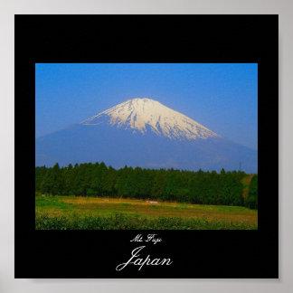 Poster of Mt. Fuji in Japan. Fuji San.