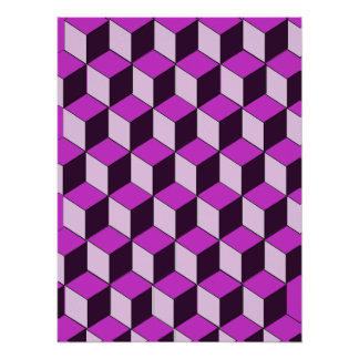 Poster - Optical illusion Blocks