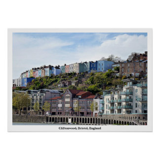 "Poster Photograph of Cliftonwood, Bristol, 28""x20"""