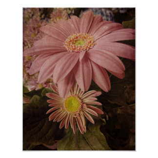 Poster-Pink Antiquity-floral