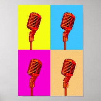 Poster - Pop Art Microphone