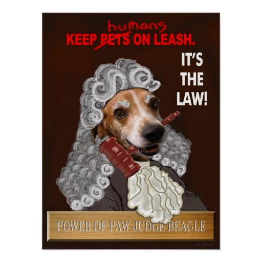 Poster - Power of Paw Judge Beagle