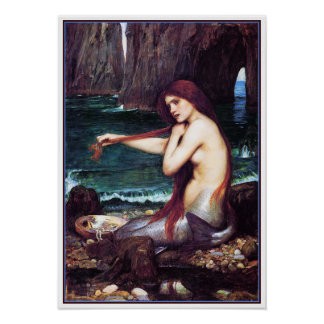 Poster/Print: A Mermaid by John Waterhouse Poster