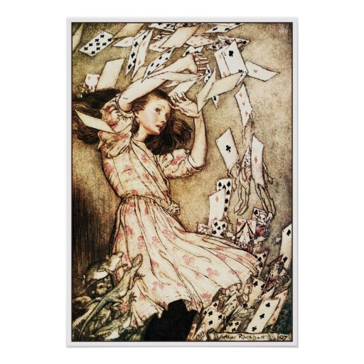 Poster/Print: Alice & the Pack of Cards