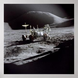 Poster/Print: Astronaut Irwin on Moon Poster