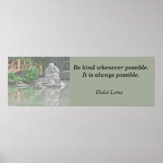 Poster print Dalai Lama quote