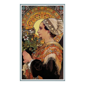 Poster Print: Mucha - Thistle from the Sands