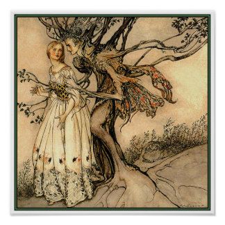 Poster/Print:  Old Woman in the Wood by Rackham Poster
