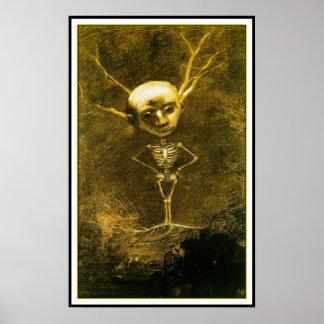 Poster/Print: Skeleton Man by Odilon Redon Poster