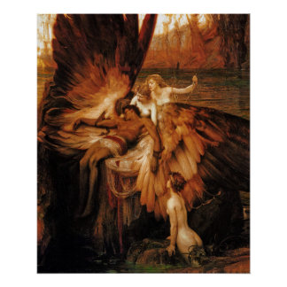 Poster Print: The Lament for Icarus by H. Draper