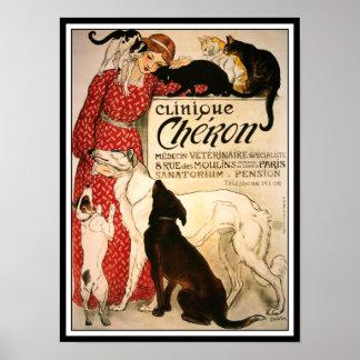Poster Print Vintage Steinlen Clinique Cheron