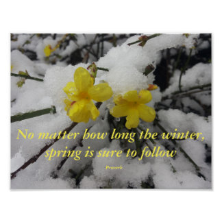 Poster Quote & Saying, Spring Winter