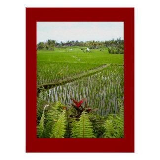 """Poster red  (18"""" x 24"""") The Flowering Ubud Bali"""