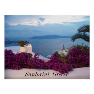 poster Santorini Greece