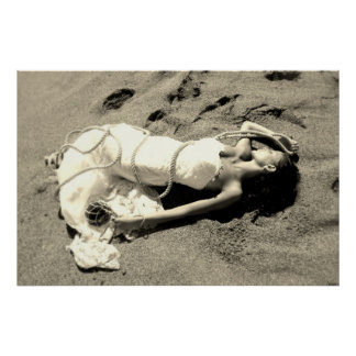 poster sea sands white black blank married siren