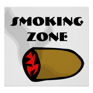 POSTER: Smoking Zone Poster