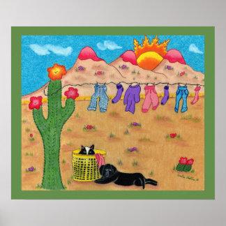 Poster southwestern whimsical art