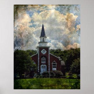 Poster-Stately Brick Church
