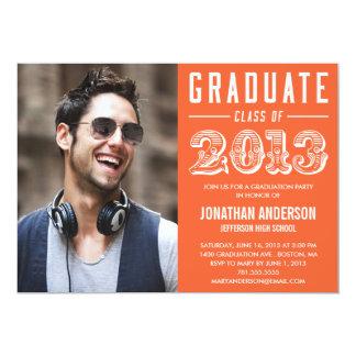 Poster Style Graduation Invitation