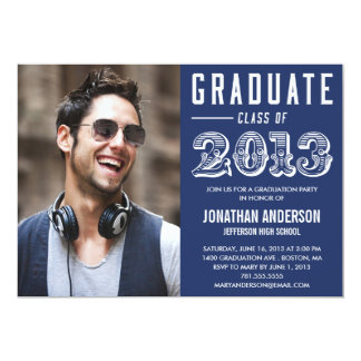 "Poster Style Graduation Invitation 5"" X 7"" Invitation Card"