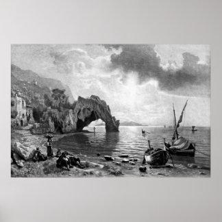 Poster ~ Sunset at Capri ~ Photogravure
