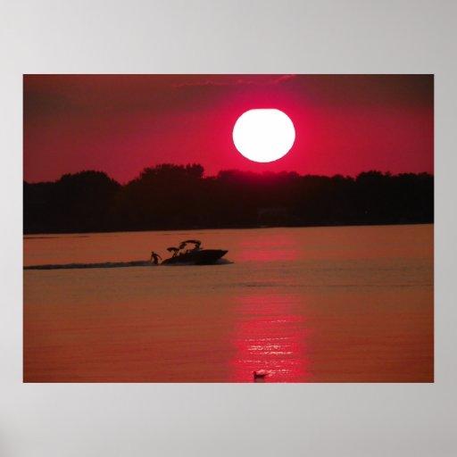 Poster~ Sunset on Lake Waconia MN