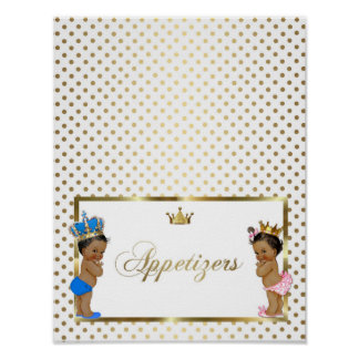poster table sign appetizers,white,gold,8.5x11