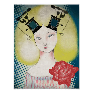 Poster, the retro infante