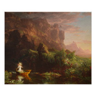 Poster The Voyage of Life Childhood, Thomas Cole