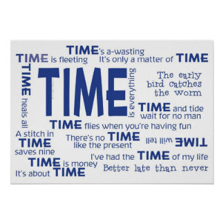 Poster - Time Proverbs [Blue]